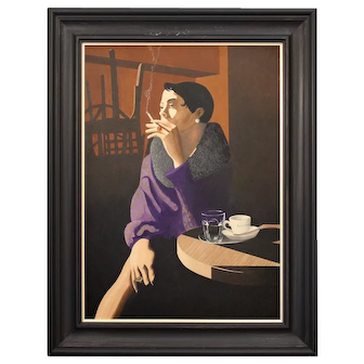 Fabian Lucangioli, The Morning After The Night Before, Portrait, Original Vintage Painting