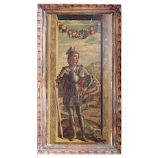 After Andrea Mantegna, George & The Dragon Vintage Print, Florentine Provenance, Hand-Finished Lithograph