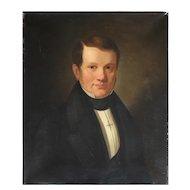 R. Christiansen, Portrait Of Neils Daniel Kemp, Antique Oil Painting