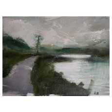 Original Contemporary Landscape Painting, Rosemary Burn, Path In The Lake District