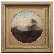 Emma Smythe, Suffolk Mill, Antique English Landscape Painting