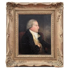 Late 18th-Century Portrait Of A Gentleman, Antique Oil Painting