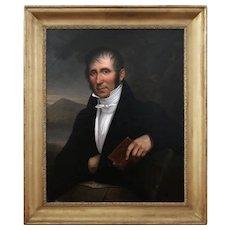 Portrait Of Dr Joseph Hippolyte Riembault, Antique Painting