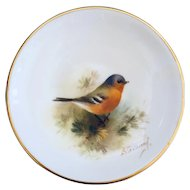 Royal Worcester Chaffinch Trinket, Pin Dish Hand painted E. Townsend, Signed