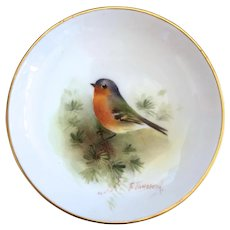 Royal Worcester Chaffinch Trinket, Pin Dish Hand painted E. Townsend signed