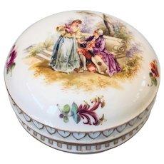 Helena Wolfsohn Dresden Round Hand Painted Box c1843-1878