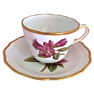 "Vintage Spode Copeland's China "" Rhododendron"" English Bone China Tea Cup and Saucer"