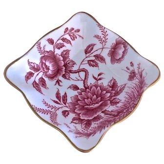 "EB Foley ""Peony"" English Bone China Small Square Dish"