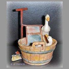 Lowell Davis Retired Good Clean Fun Duck Figurine