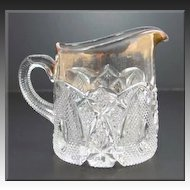 US Glass New Hampshire Breakfast Creamer Gold Gilt