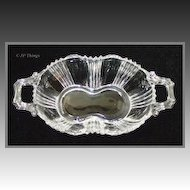 Fostoria Sunray 2 Handled Pickle Dish Excellent Condition