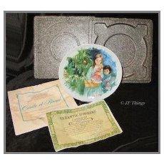 Elegant Cecil et Raoul Durand Children's Collectors Plate by Limoges -Turgot