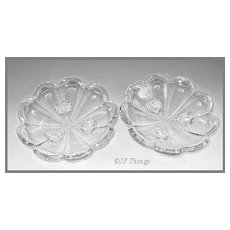 Krys-Tol Chippendale Pair of Three Footed Bowl