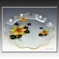 English Chance Brothers Fiestaware Springtime Fluted Edge Plate