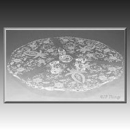 Prelude Cake Salver 11.00 inch  No. 1091 Low 3 Tab Footed By Viking Glass Company