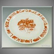 Norwegian Childs ABC Plate by Edgersund
