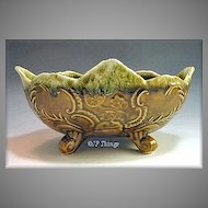 Green Drip Footed Lombardi Planter California Potteries