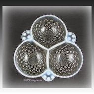 Anchor Hocking White Opalescent Glass Moonstone Cloverleaf Bowl