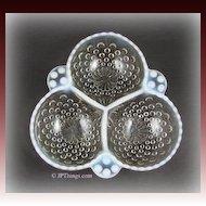 Anchor Hocking White Opalescent Glass Moonstone Cloverleaf Bowl