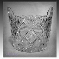 EAPG Duncan Glass Quarter Block Diamonds Panelled Ice Tub