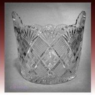 EAPG Duncan Glass Quarter Block Diamonds Panelled Ice Tub