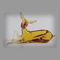 1970 Amber Pilgrim Glass Bambi Deer No 936