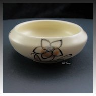 Exquisite Poole Pottery Hand Painted Floral Trinket Bowl