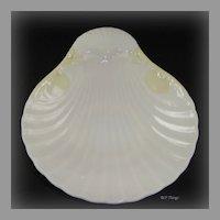 Elegant Irish Belleek Porcelain New Shell Handled Butter Server with 2nd Green Mark