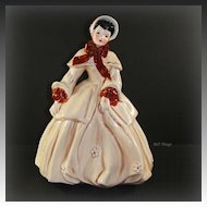 Florence Abigail Beige & Chestnut Figurine by Florence Ceramics Pasadena CA