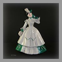 Florence Matilda Green & Gray with Spaghetti Accents Figurine by Florence Ceramics Pasadena California