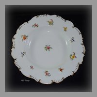 1890s Brown Westhead Moore & Company Pink Rose & Floral Large Porcelain Bowl H 4836