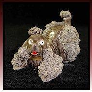 Dark Gray Playful Spaghetti Art Poodle Dog 52/286
