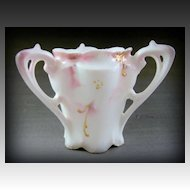 Elegant RS Prussia 3 Handle Dogwood with Gold Gilt Toothpick Holder