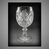 EAPG US Glass Pennsylvania aka Balder Wine Glass Brilliant Reflection