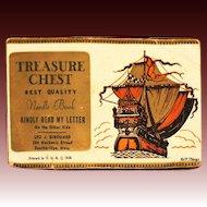 Rare 1938 Money Solicitation Treasure Chest Sewing Needle Book Leo J. Girouard