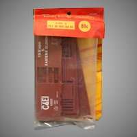 Train Kurtz Kraft  K-100 D PS-1 40' Box Car Kit Chicago & Eastern Illinois Brown