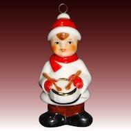 1986 Goebel Color Drummer Boy Porcelain Christmas Ornament 9th Edition