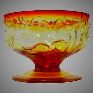 Flame El Rancho Bryce Glass Company Footed Tall Sherbet Glass