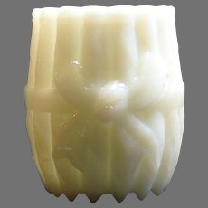 Eagle Glass Company Opal Bowknot a.k.a. Bundled Cigars Toothpick Holder