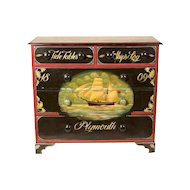 19th Century English Chest in Nautical Paint