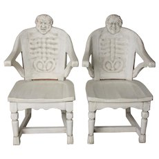 PAIR, Late 19thc. Anatomical Chairs
