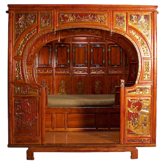 Chinese Wedding Bed, mid 19th Century