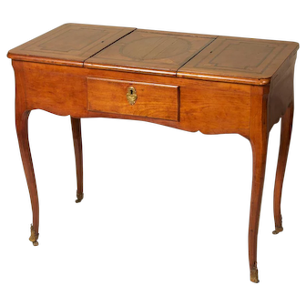 18th. C Louis XV Fruitwood Inlaid Poudreuse, Dressing Table