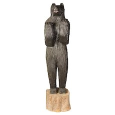 1950's Carved Wood Bear, 6' tall