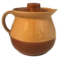 Watt Pottery Cabinart Bake Ware Pitcher with Lid c. 1940s USA
