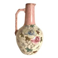 Thomas Forester & Sons Veloutino Hand Painted Porcelain Pitcher Staffordshire, England c. 1890s FREE SHIPPING!