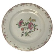 18th C. Chinese Export Hand Painted Porcelain Plate
