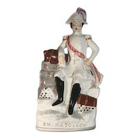 Large Antique Staffordshire Figurine Emperor Napoleon III c. 1854 FREE SHIPPING!