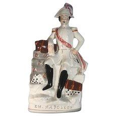 Large Antique Staffordshire Figurine Emperor Napoleon III c. 1854 FREE SHIPPING!