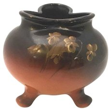 Weller Pottery Louwelsa Yellow Rose Three Footed Vase 589 c. 1896-1924 FREE SHIPPING